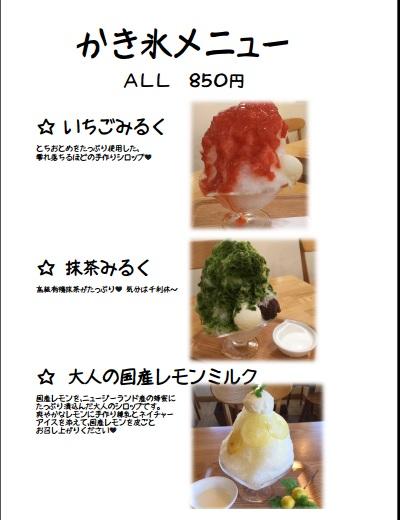 かき氷3種