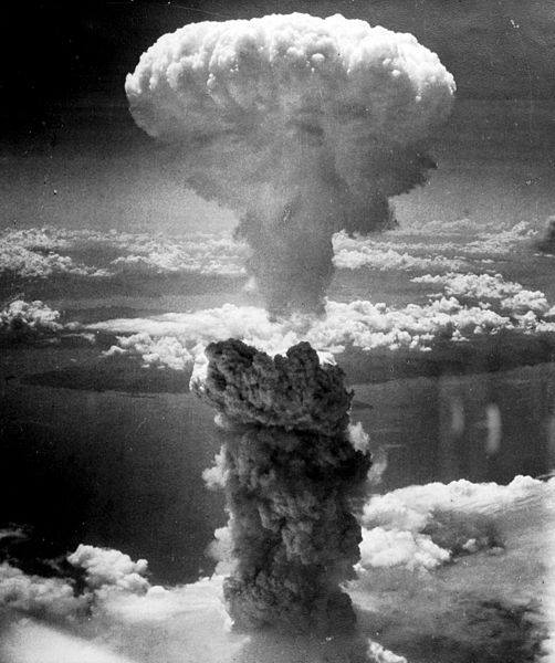 the explosion of an atomic bomb